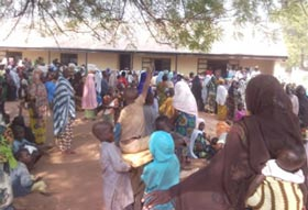 Nassarawa community members gather to receive their free LLINs